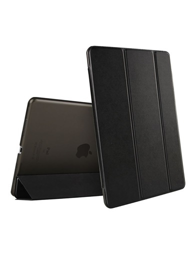 Microsonic Apple iPad Air 3 10.5'' 2019 (A2152-A2123-A2153-A2154) Smart Case ve arka Kılıf Siyah Siyah